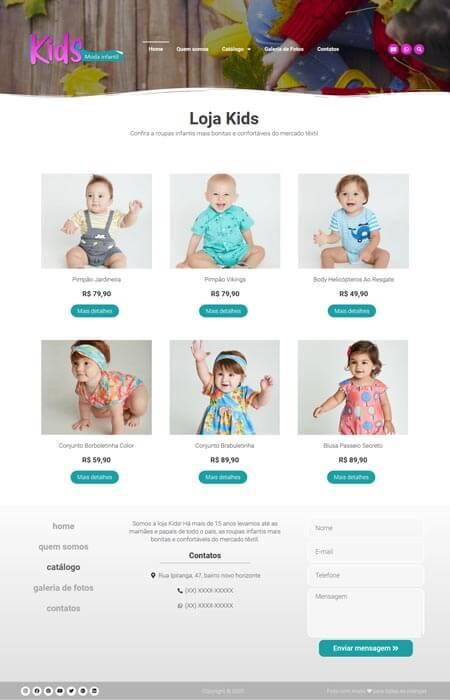 Crie sites com catálogo de produtos