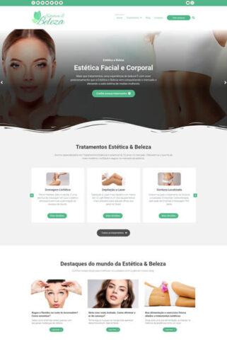 Criação do site Beleza e Estética com o sistema de criação de sites Radoox