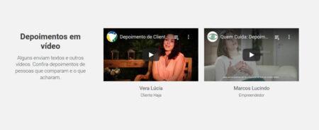 Mostre vídeos com depoimentos de clientes que já compraram o seu produto ou serviço