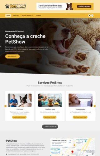 PetShow - Site para Pet criado com o sistema Radoox