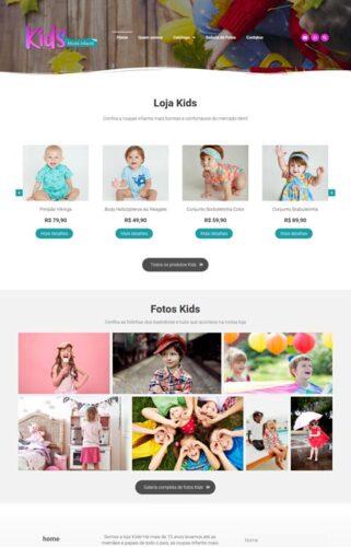 kids - Site de moda infantil criado com o sistema de criação de sites radoox